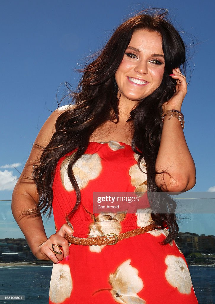 Vicky Pattison, of UK reality TV series, Geordie Shore, poses for a photo at Bondi Beach on March 5, 2013 in Sydney, Australia.