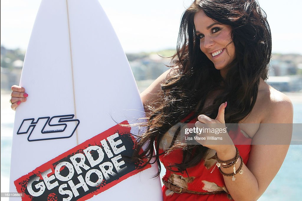 Vicky Pattison of UK reality TV series, Geordie Shore, poses for a photo at Bondi Beach on March 5, 2013 in Sydney, Australia.