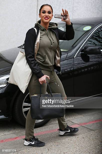 Vicky Pattison seen leaving The ITV Studios after appearing on Loose Women on March 18 2016 in London England