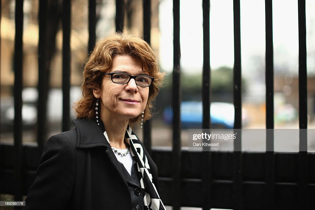 Vicky Pryce, ex-wife of Chris Huhne, arrives at Southwark Crown Court on March 7, 2013 in London, England. Former Cabinet member Chris Huhne has pleaded guilty to perverting the course of justice over claims his ex-wife took speeding points for him in 2003. Ms Pryce, 60, has pleaded not guilty to the same offence on grounds of marital coercion.