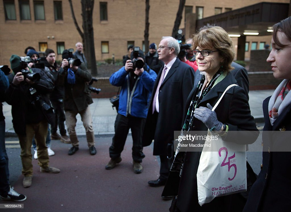 <a gi-track='captionPersonalityLinkClicked' href=/galleries/search?phrase=Vicky+Pryce&family=editorial&specificpeople=8908142 ng-click='$event.stopPropagation()'>Vicky Pryce</a> (2R), ex-wife of Chris Huhne, leaves Southwark Crown Court on February 20, 2013 in London, England. Former Cabinet member Chris Huhne has pleaded guilty to perverting the course of justice over claims his ex-wife took speeding points for him in 2003. Ms Pryce, 60, faces a re-trial after the jury failed to reach a verdict.
