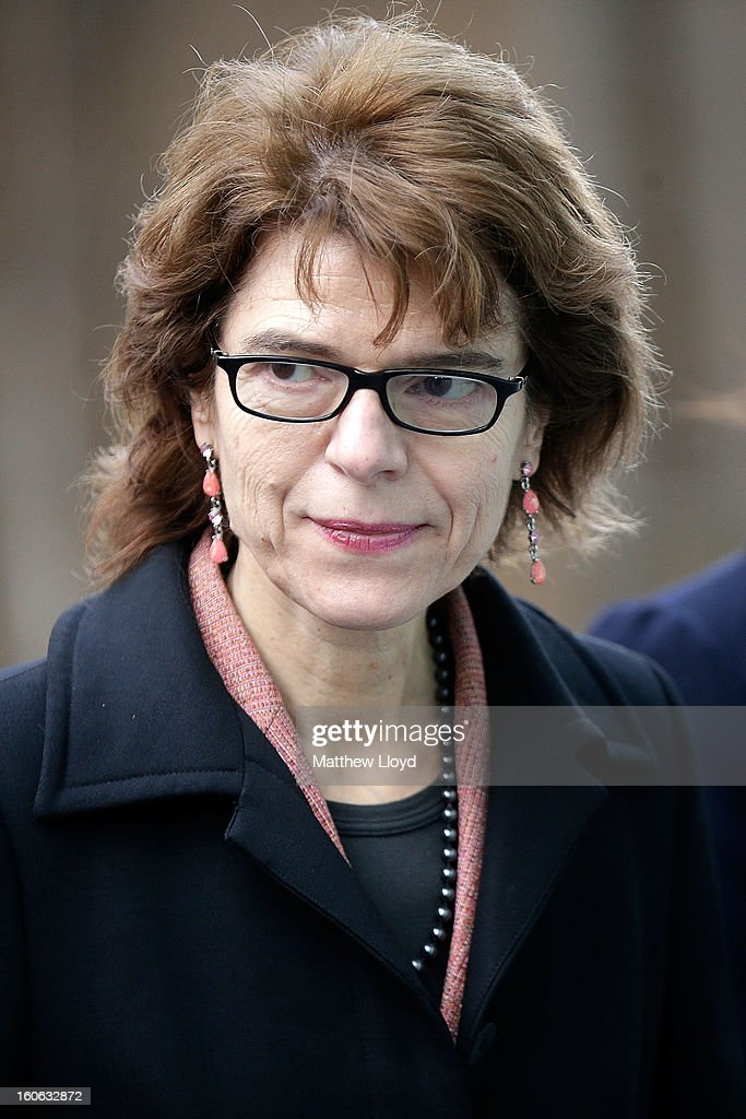 Vicky Pryce, ex-wife of former Cabinet Minister Chris Huhne, leaves Southwark Crown Court on February 4, 2013 in London, England. Huhne, 58, and his ex-wife Vicky Pryce are on trial over allegations that Pryce, 60, took penalty points on her driving licence in 2003 so that he could avoid prosecution. Chris Huhne pleaded guilty to perverting the course of justice.
