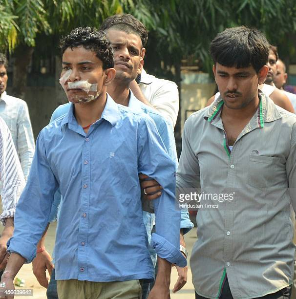 A victim of stampede after the treatment stampede occurred during the Dussehra celebration at Gandhi Maidan on Friday night on October 4 2014 in...