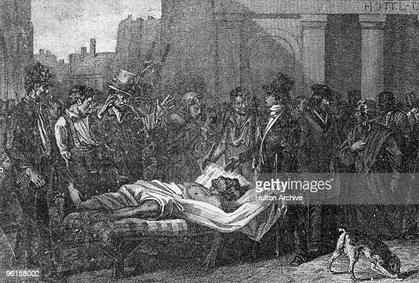 A victim of the cholera epidemic in Paris 1832 Around 20000 people died in the city during the outbreak which began in the Ganges delta and swept...