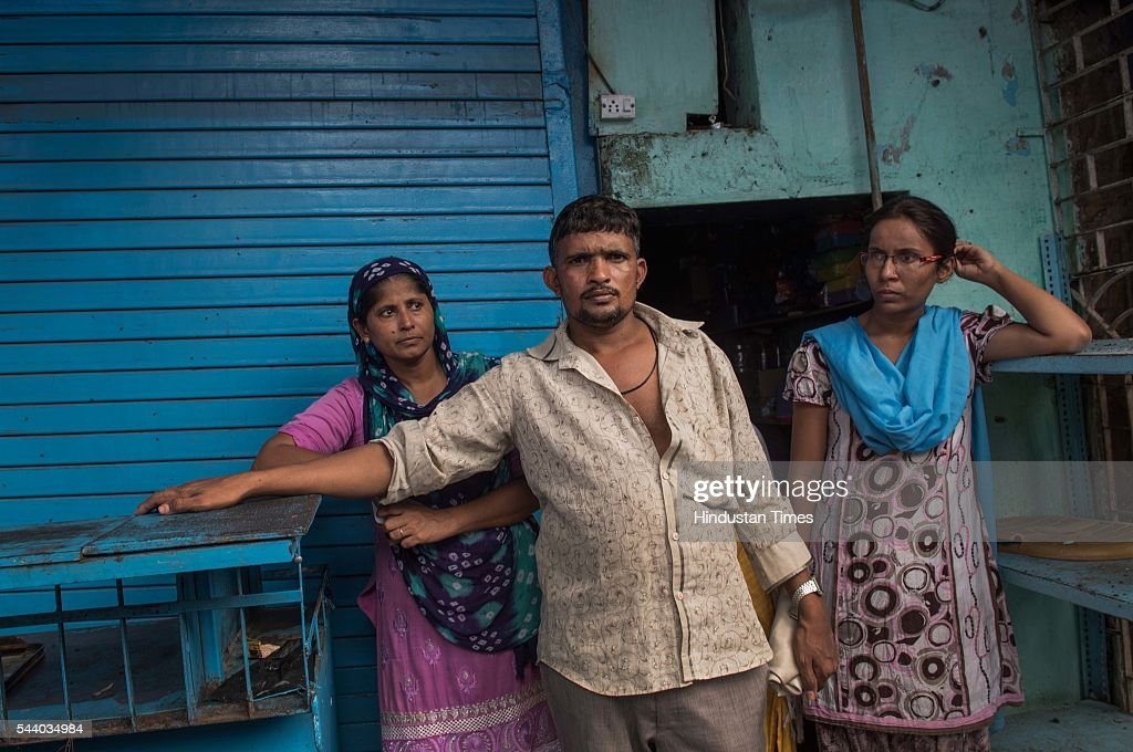 Victims family members outside medical store, which caught fire early morning 6 am at the 40-year-old Wafa medical store located on the ground floor of the Mestri Chawl at Juhu on June 30, 2016 in Mumbai, India. In a major incident that has shaken up the civic administration, nine people including five children and a pregnant woman, were killed when a fire caused by suspected short circuit broke out in a medical store.