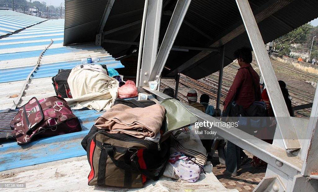 Victims luggage at the Allahabad Station.