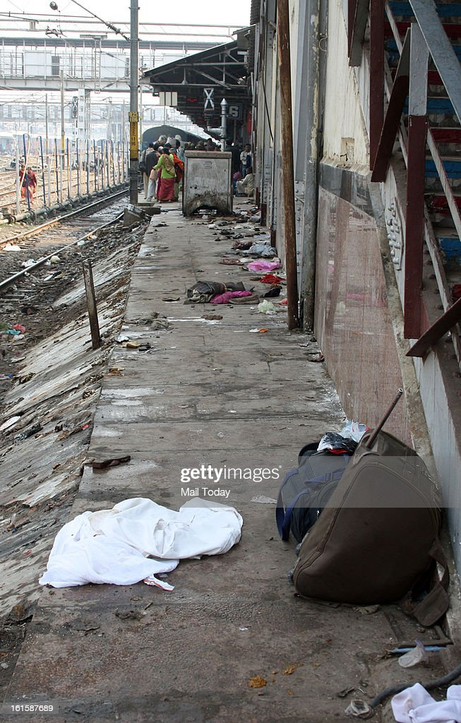 Victims luggage at the Allahabad Station.