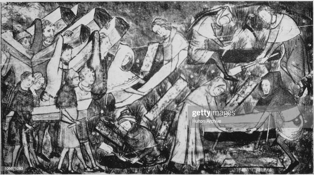 Victims of the Black Death being buried at Tournai then part of the Netherlands 1349 The Black Death was thought to have been an outbreak of the...