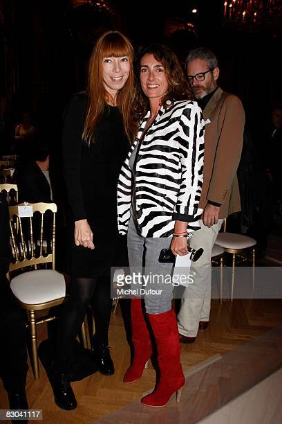 Victoire de Castelane and Mlle Agnes attend the Balmain PFW Spring Summer 2009 show at Paris Fashion Week 2008 at Hotel Westin on September 28 2008...