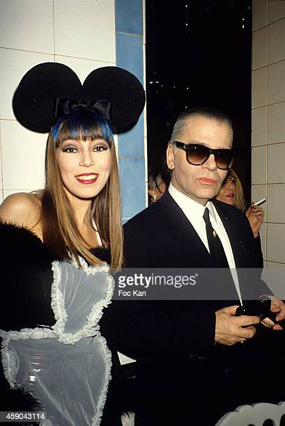 Victoire de Castellane and Karl Lagerfeld attend the Victoire de Castellane Birthday Party at Les Bains Douches in January in Paris France
