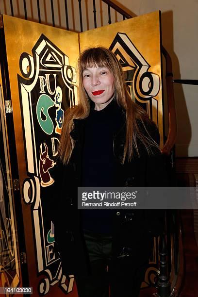 Victoire de Castellane attends Vincent Darre Exhibition opening at Galerie Pierre Passebon on March 19 2013 in Paris France