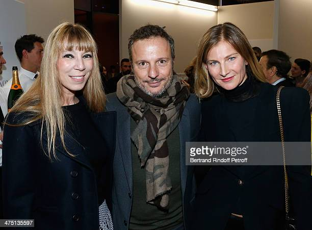 Victoire de Castellane Olivier Bialobos and Elizabeth Von Guttman attend LVMH Prize SemiFinalists Designers Cocktail Party on February 26 2014 in...