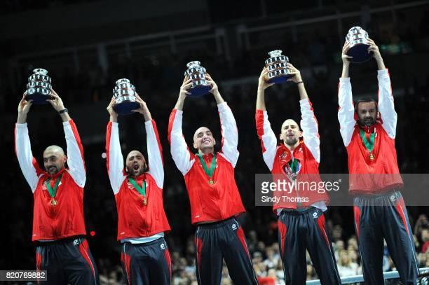 Victoire Serbie Nenad ZIMONJIC / TIPSAREVIC / Viktor TROICKI / Novak Djokovic / Bogdan Obradovic 3e simple France / Serbie Finale Coupe Davis 2010...