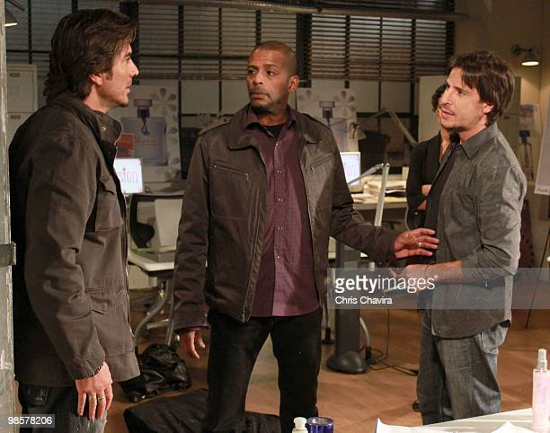 CHILDREN Victor Alfieri Darnell Williams and Ricky Paull Goldin in a scene that airs the week of April 26 2010 on ABC Daytime's 'All My Children'...