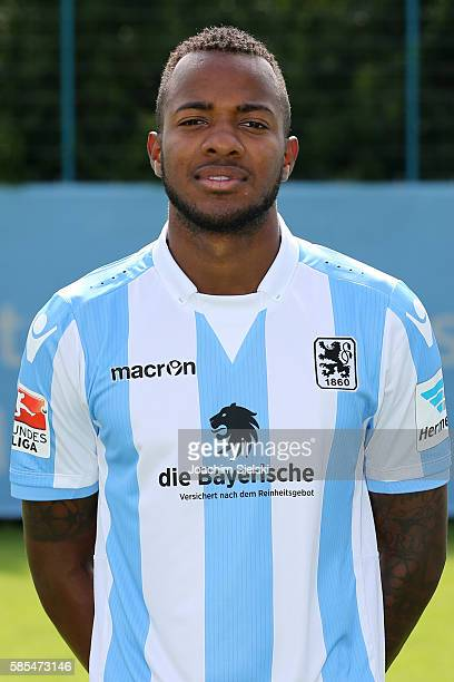 Victor Andrade poses during the official team presentation of TSV 1860 Muenchen at Trainingsgelaende on July 22 2016 in Munich Germany