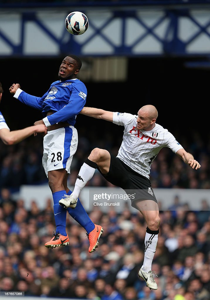 <a gi-track='captionPersonalityLinkClicked' href=/galleries/search?phrase=Victor+Anichebe&family=editorial&specificpeople=740464 ng-click='$event.stopPropagation()'>Victor Anichebe</a> of Everton in action with <a gi-track='captionPersonalityLinkClicked' href=/galleries/search?phrase=Philippe+Senderos&family=editorial&specificpeople=221471 ng-click='$event.stopPropagation()'>Philippe Senderos</a> of Fulham during the Barclays Premier League match between Everton and Fulham at Goodison Park on April 27, 2013 in Liverpool, England.