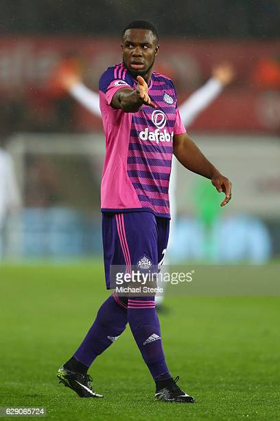 Victor Anichebe of Sunderland during the Premier League match between Swansea City and Sunderland at the Liberty Stadium on December 10 2016 in...