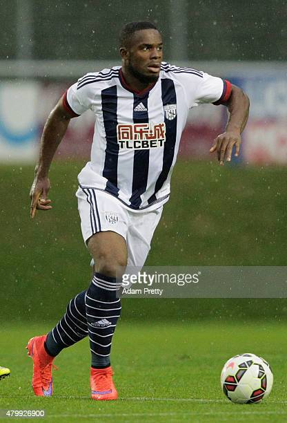Victor Anichebe of West Brom controls the ball during the friendly match between Red Bull Salzburg and West Brom on July 8 2015 in Schladming Austria