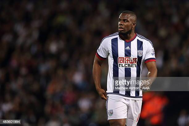 Victor Anichebe of West Bromwich Albion during the Barclays Premier League match between West Bromwich Albion and Manchester City at The Hawthorns on...
