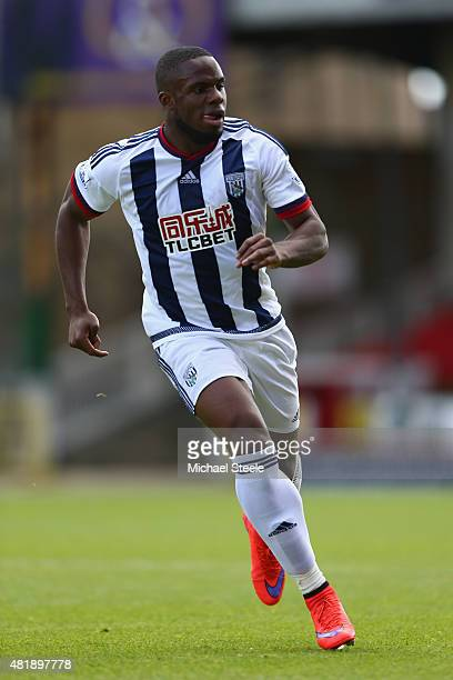 Victor Anichebe of West Bromwich Albion during the PreSeason Friendly match between Swindon Town and West Bromwich Albion at the County Ground on...