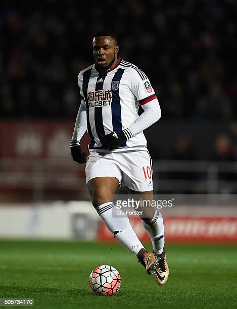 Victor Anichebe of West Bromwich Albion in action during the Emirates FA Cup Third Round Replay match between Bristol City and West Bromwich Albion...
