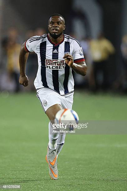 Victor Anichebe of West Bromwich Albion runs with the ball during an International friendly soccer match between West Bromwich Albion and the Orlando...