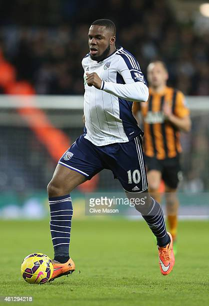 Victor Anichibe of West Bromwich Albion in action during the Barclays Premier League match between West Bromwich Albion and Hull City at The...
