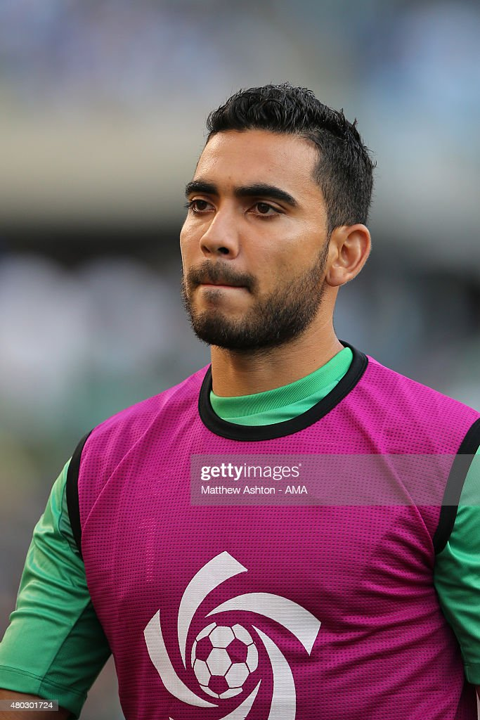 Victor Ayala of Guatemala during the CONCACAF Gold Cup match between Trinidad & Tobago and Guatemala at Soldier Field on July 9, 2015 in Chicago, Illinois.