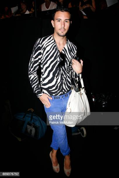 Victor Blanco attends BADGLEY MISCHKA Spring/Summer 2010 Collection at Tent on September 15 2009