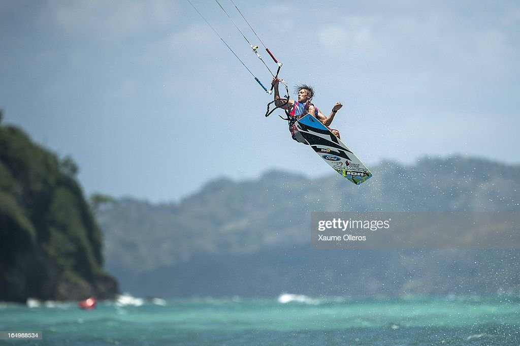 Victor Borsuk of Poland competes on freestyle during day five of the KTA at Boracay Island on March 30, 2013 in Makati, Philippines.