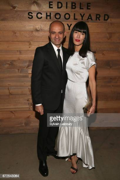Victor Calderone and Athena Calderone attend Edible Schoolyard NYC 2017 Spring Benefit at Metropolitan West on April 24 2017 in New York City
