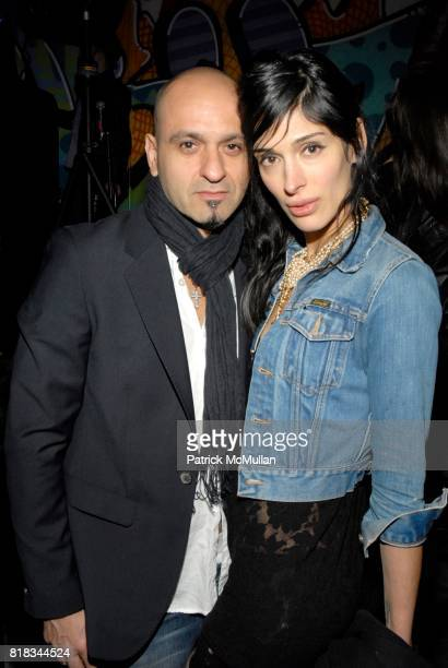 Victor Calderone and Athena Calderone attend INTERVIEW 40th Anniversary In GOOD UNITS At Hudson Hotel at Good Units on February 9 2010 in New York...