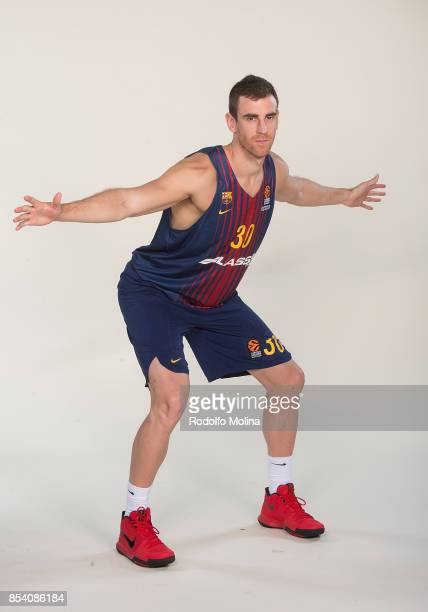 Victor Claver #30 poses during FC Barcelona Lassa 2017/2018 Turkish Airlines EuroLeague Media Day at Palau Blaugrana on September 25 2017 in...