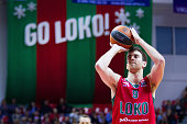Victor Claver #9 of Lokomotiv Kuban Krasnodar in action during the Turkish Airlines Euroleague Basketball Top 16 Round 2 game between Lokomotiv Kuban...
