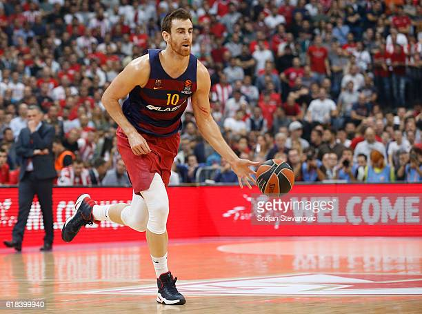 Victor Claver of Barcelona Lassa in action during the 2016/2017 Turkish Airlines EuroLeague Regular Season Round 3 game between Crvena Zvezda MTS...