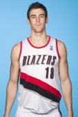 Victor Claver of the Portland Trail Blazers poses for a picture during media day on September 30 2013 at the Rose Garden Arena in Portland Oregon...