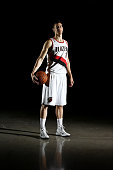 Victor Claver of the Portland Trail Blazers poses for a portrait during Media Day at the Moda Center on September 29 2014 in Portland Oregon NOTE TO...
