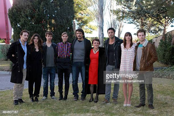 Victor Clavijo Clara Lago Ferran Vilajosana Maria Cantuel two guests Hugo Silva Ingrid Rubio and Alvaro Cervantes attend the presentation of the Tv...