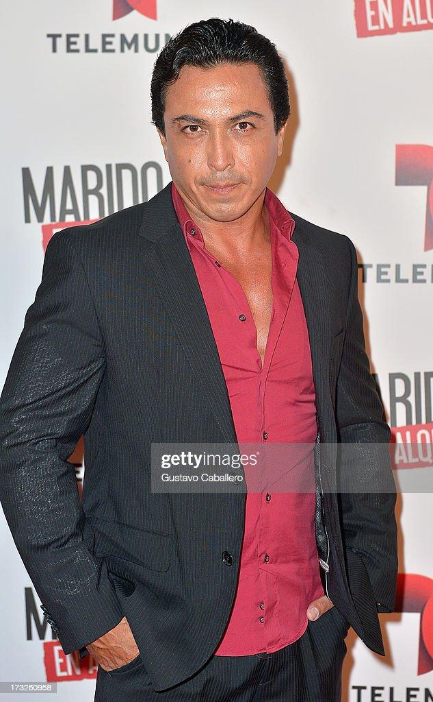 Victor Corona attends Telemundos 'Marido en Alquiler' Presentation on July 10, 2013 in Miami, Florida.