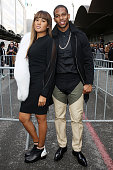 Victor Cruz and Elaina Watley arrive at the Givenchy Menswear Fall/Winter 20142015 show as part of Paris Fashion Week on January 17 2014 in Paris...