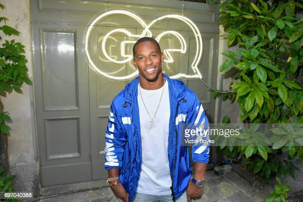 Victor Cruz attends GQ Celebrates Milan Men's Fashion Week during Milan Men's Fashion Week Spring/Summer 2018 on June 17 2017 in Milan Italy