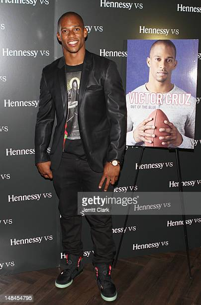 Victor Cruz attends his Memoir 'Out Of The Blue' Launch presented by Hennessy Vs on July 16 2012 in New York United States