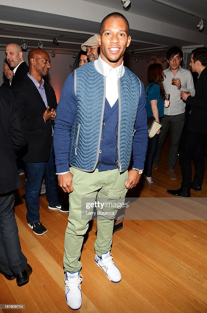 Victor Cruz attends the after party following the premiere of the HBO Documentary Film 'Beyonce: Life Is But A Dream' at Christie's on February 12, 2013 in New York City.