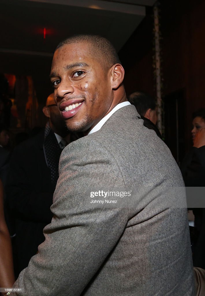 <a gi-track='captionPersonalityLinkClicked' href=/galleries/search?phrase=Victor+Cruz+-+American+Football+Player&family=editorial&specificpeople=8736842 ng-click='$event.stopPropagation()'>Victor Cruz</a> attends The Hip-Hop Inaugural Ball II at Harman Center for the Arts on January 20, 2013 in Washington, DC.
