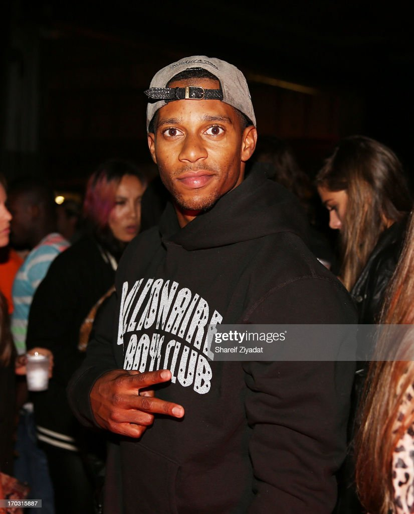 Victor Cruz attends the Kanye West album listening party at Milk Studios on June 10, 2013 in New York City.