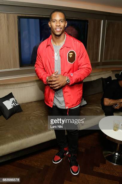 Victor Cruz attends the MTV 'Champs vs Pros' Victor Cruz Screening Party at the 40 / 40 Club on May 16 2017 in New York City