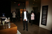 Victor Cruz attends the Public School show during MADE Fashion Week Fall 2014 at Milk Studios on February 9 2014 in New York City