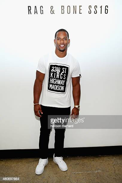 Victor Cruz attends the rag bone SS16 Menswear Event at Highline Stages on July 14 2015 in New York City