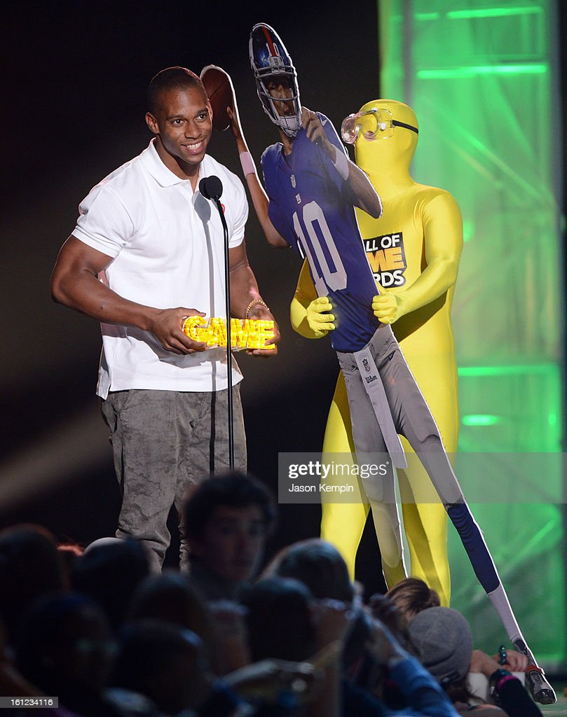 Victor Cruz attends the Third Annual Hall of Game Awards hosted by Cartoon Network at Barker Hangar on February 9, 2013 in Santa Monica, California. 23270_003_JK_0093.JPG