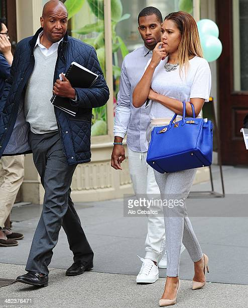 Victor Cruz is seen on the Flatiron District on April 3 2014 in New York City